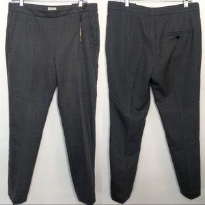 Brunello Cucinelli Gray Wool Trousers, Size 6